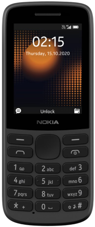 Nokia 215 4G Kaksois-SIM Musta