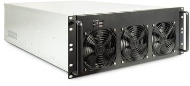 """Inter-Tech 4F28 Mining-rack 4U 19"""" 650Mm"""