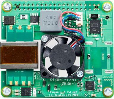 Raspberry Pi PoE + board HAT