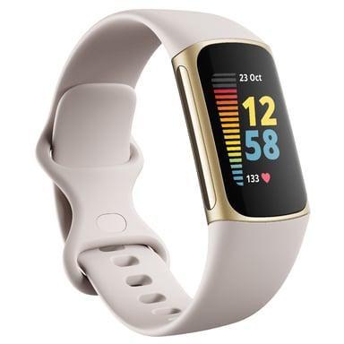 Fitbit Charge 5 Lunar White/Soft Gold Toiminnan seurantalaite Beige