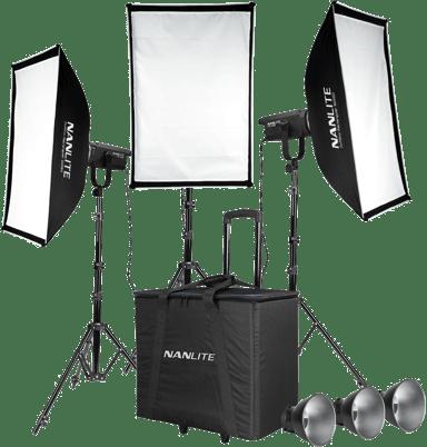 NANLITE Fs-150 LED 3 Light Kit With Stand