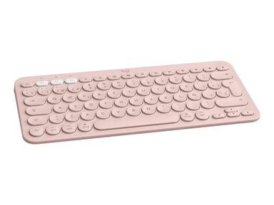 Logitech K380 Multi-Device Bluetooth For Mac Langaton Pohjoismaat Pinkki