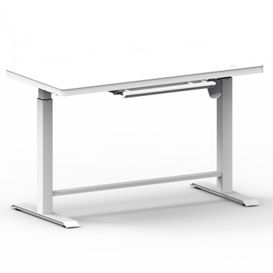 Nordic Office OmniDesk Hev/senk bord 120c60 cm Hvit