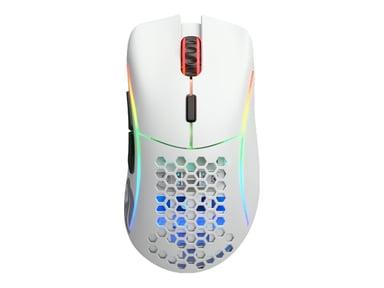 Glorious PC Gaming Race Glorious Model D 19,000dpi Mus Kabelansluten Trådlös Vit