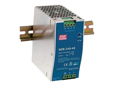 Mean Well PSU 230VAC/48VDC 240W for DIN rail