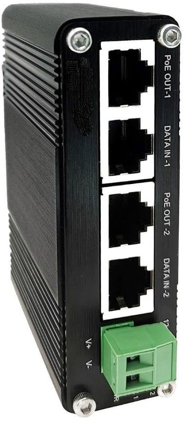 Direktronik Gigabit PoE-injektor DIN 60W