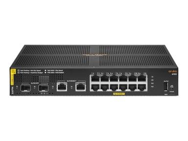 HPE Aruba 6100 12G Class4 PoE 2G/2SFP+ 139W Switch