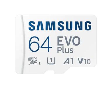 Samsung Evo Plus Microsdxc 64Gb A1 V10 U1 W/a 64GB microSDXC UHS-I-geheugenkaart