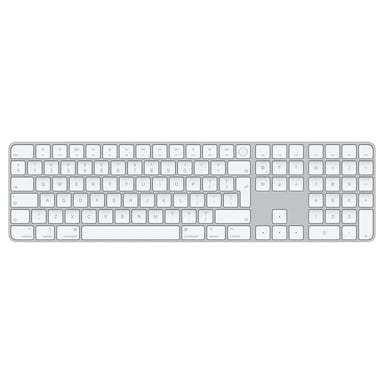 Apple Magic Keyboard with Touch ID and Numeric Keypad Draadloos Internationaal Engels Wit Zilver