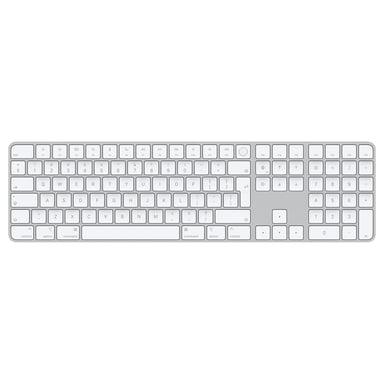 Apple Magic Keyboard with Touch ID and Numeric Keypad Trådløs International English Hvit Sølv
