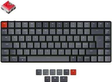 Keychron K3 RGB Hot-Swap Red (Version 2) Kabling Trådløs Nordisk Grå Sort