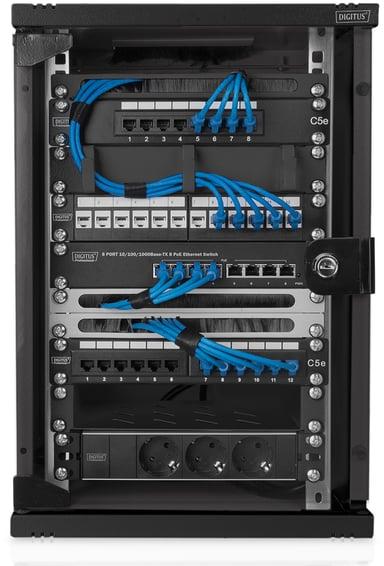 """Digitus Komplett 10-tumsrack """"Pro"""" för nätverksinstallationer"""