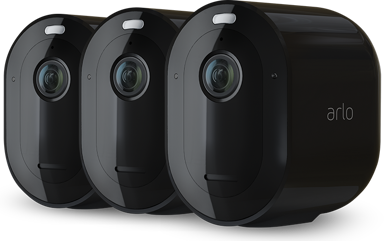 Arlo Pro 4 Wire-free Spotlight Camera Black 3-Pack