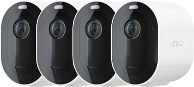 Arlo Pro 4 Trådlös Säkerhetskamera Vit 4-Pack
