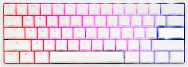 Ducky One 2 Mini Pure White Cherry Mx Speed Silver RGB 2020 Met bekabeling Scandinavisch Wit
