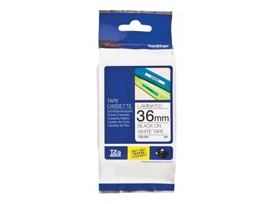 Brother Tape TZE-261 36mm Svart/Hvit null