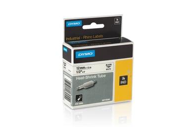 Dymo Tape RhinoPRO Heat Shrink 12mm Sort/Hvid