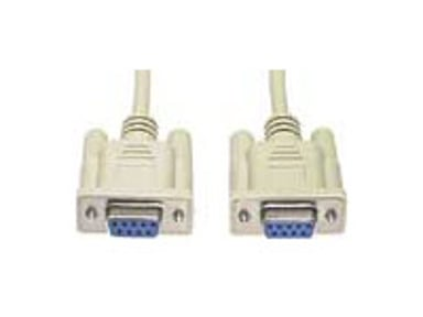 Deltaco Nollmodem DB9 Female- DB9 Female 2m 9 pin D-Sub (DB-9) Hona 9 pin D-Sub (DB-9) Hona