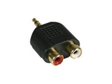 Deltaco Audio adaptor Mini-phone stereo 3.5 mm Uros RCA Naaras