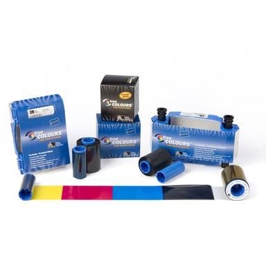 Zebra Färgband YMCKO 200 Bilder Inkl 1st Rengöringsrulle