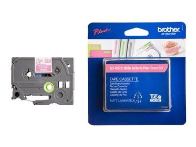 Brother Tape TZe-MQP35 12mm Vit/Rosa