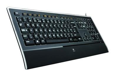 Logitech Illuminated K740 - tangentbord Kabelansluten Tyska Svart