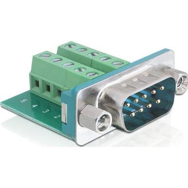 Delock Adapter 10-pins terminalblokk Hann 9-pin D-Sub (DB-9) Hann