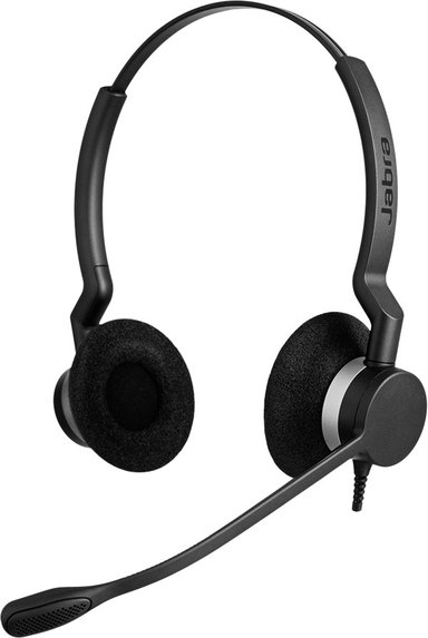 Jabra Biz 2300 Qd Duo Sort