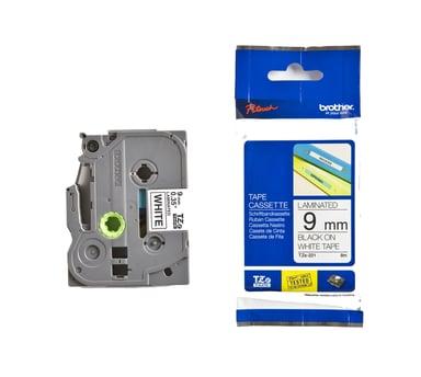 Brother Tape TZE-221 9mm Svart/Hvit null