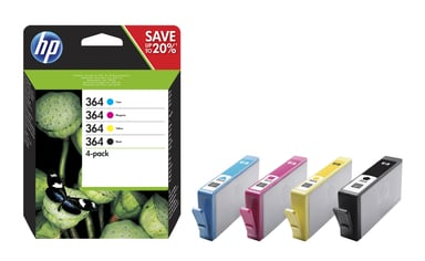 HP Bläck Kit Combo No.364 (C/M/Y/K) BLISTER