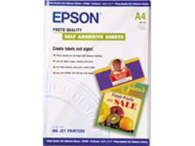 Epson Papper Photo Quality Self-Adhesive A4 10-ark 167G