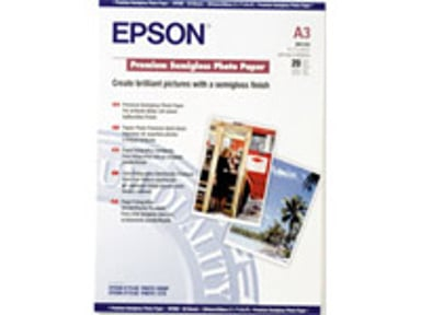 Epson Papir Photo Premium Semi Glossy A3 20-Ark 250g