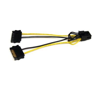 Startech Adapter 15 pin Serial ATA strøm Han 8 pin PCI Express-strøm Han