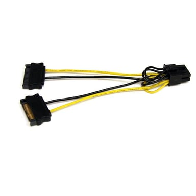 Startech SATA Power to 8 Pin PCI Express Video Card Power Cable Adapter 15 pins Serial ATA-voeding Male 8 pins-PCI Express-voeding Male
