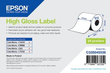 Epson Højglans-etiketter