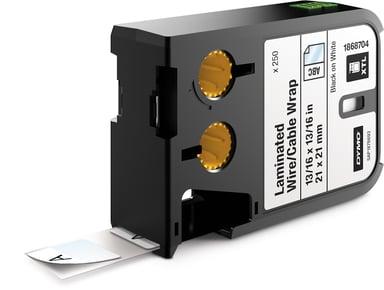 Dymo Etiketter Kabel Laminated 21x21mm Svart/Hvit - XTL