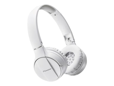 Pioneer SE-MJ553BT Bluetooth Headphone - White Hvit