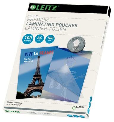Leitz Lamineringslommer 100mic A4 UDT 100stk