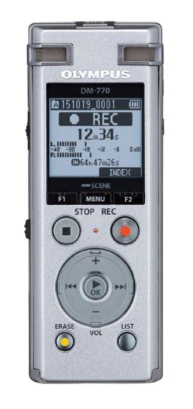 Olympus DM-770 Inkl. NiMh Batteri + Taske/Remme/USB-kabel