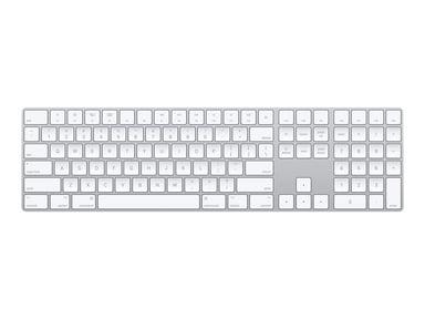 Apple Magic Keyboard with NumPad Trådløs Dansk Hvid Sølv