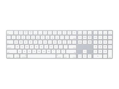 Apple Magic Keyboard with Numeric Keypad Trådløs USA Hvid Sølv