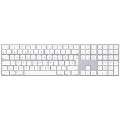 Apple Magic Keyboard with NumPad Trådlös Svensk Silver Vit