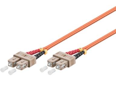 Microconnect Fiberoptisk kabel SC/UPC SC/UPC OM1 0.5m 0.5m
