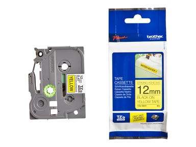Brother Tape TZe-S631 12mm Svart/Gul Extra Stark