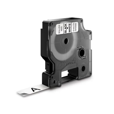 Dymo Tape D1 12mm Svart/Vit Märkband