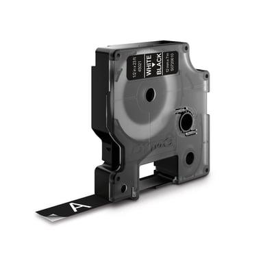 Dymo Tape D1 12mm Hvid/Sort