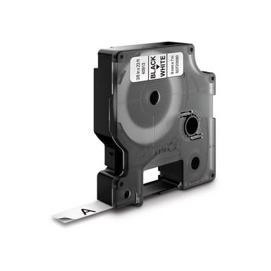 Dymo Tape D1 9mm Sort/Hvid