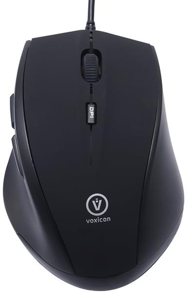 Voxicon Office M30WL 1,600dpi Mus Kabelansluten Svart