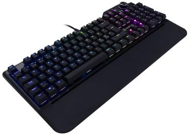 Voxicon Gaming Keyboard RGB Kabling Nordisk Sort