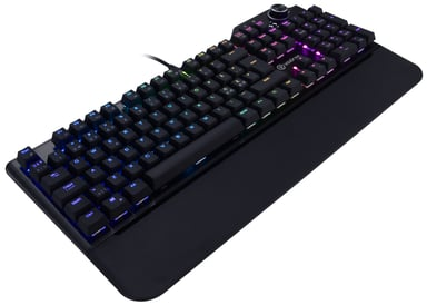 Voxicon Gaming Keyboard RGB Langallinen Pohjoismaat Musta